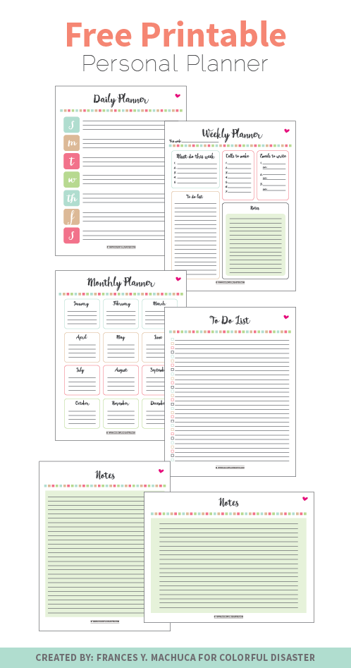 FREE Printable Personal Planner