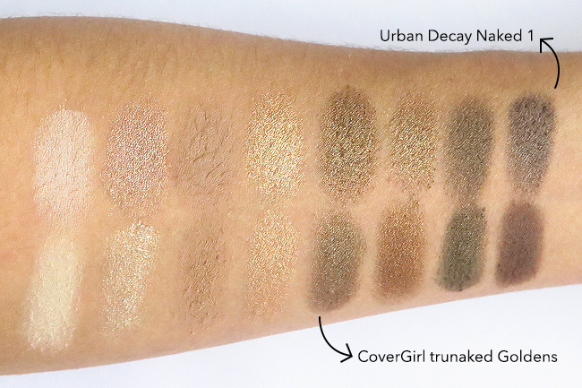 DUPE ALERT! CoverGirl trunaked VS. Urban Decay Naked