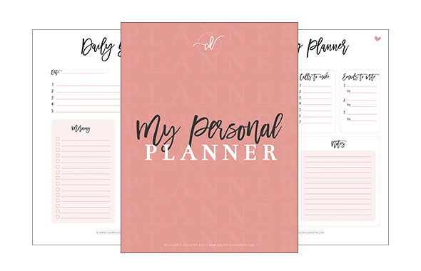 Personal Planner Colorful Disaster