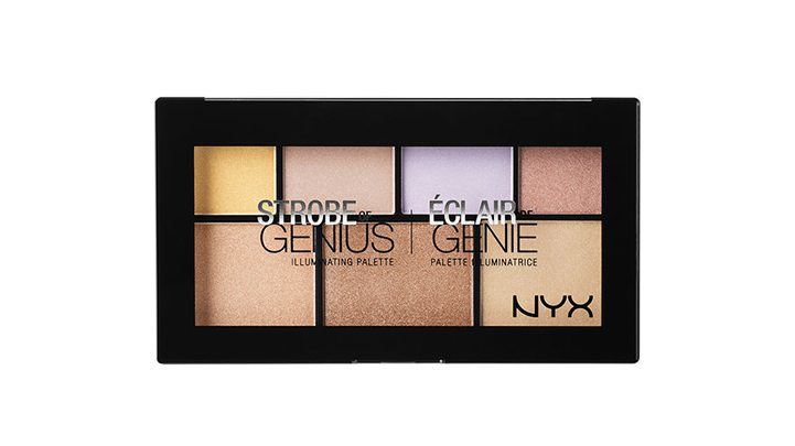 strobe of genius illuminating palette nyx cosmetics