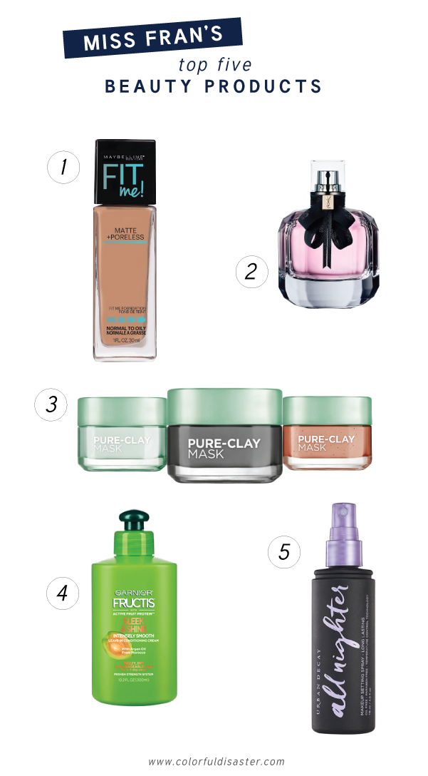 Top 5 Beauty Products Colorful Disaster